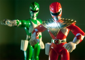 Red Ranger in Dragon Shield